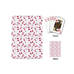 Hour Glass Pattern Red White Triangle Playing Cards (mini)  by Alisyart