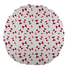 Hour Glass Pattern Red White Triangle Large 18  Premium Round Cushions by Alisyart