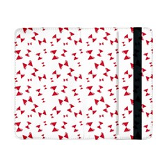 Hour Glass Pattern Red White Triangle Samsung Galaxy Tab Pro 8 4  Flip Case by Alisyart