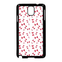 Hour Glass Pattern Red White Triangle Samsung Galaxy Note 3 Neo Hardshell Case (black)
