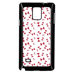 Hour Glass Pattern Red White Triangle Samsung Galaxy Note 4 Case (black) by Alisyart