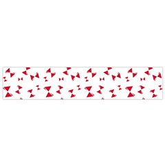 Hour Glass Pattern Red White Triangle Flano Scarf (small)