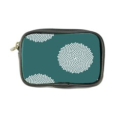Green Circle Floral Flower Blue White Coin Purse by Alisyart