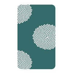 Green Circle Floral Flower Blue White Memory Card Reader by Alisyart