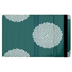 Green Circle Floral Flower Blue White Apple Ipad 2 Flip Case by Alisyart