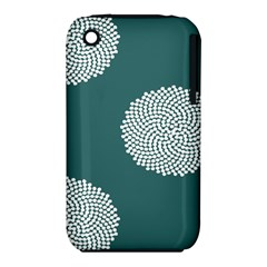 Green Circle Floral Flower Blue White Iphone 3s/3gs by Alisyart