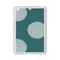 Green Circle Floral Flower Blue White Ipad Mini 2 Enamel Coated Cases