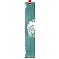 Green Circle Floral Flower Blue White Large Book Marks by Alisyart