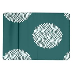 Green Circle Floral Flower Blue White Samsung Galaxy Tab 10 1  P7500 Flip Case by Alisyart