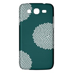 Green Circle Floral Flower Blue White Samsung Galaxy Mega 5 8 I9152 Hardshell Case