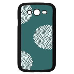Green Circle Floral Flower Blue White Samsung Galaxy Grand Duos I9082 Case (black) by Alisyart