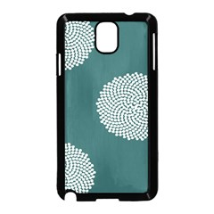 Green Circle Floral Flower Blue White Samsung Galaxy Note 3 Neo Hardshell Case (black)