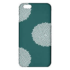 Green Circle Floral Flower Blue White Iphone 6 Plus/6s Plus Tpu Case by Alisyart