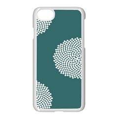 Green Circle Floral Flower Blue White Apple Iphone 7 Seamless Case (white) by Alisyart