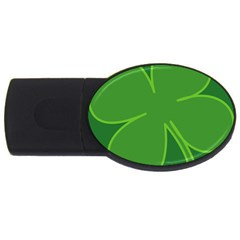 Leaf Clover Green Usb Flash Drive Oval (2 Gb) by Alisyart