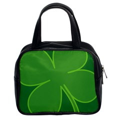 Leaf Clover Green Classic Handbags (2 Sides)