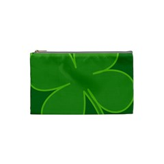 Leaf Clover Green Cosmetic Bag (small)