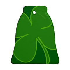 Leaf Clover Green Bell Ornament (two Sides) by Alisyart