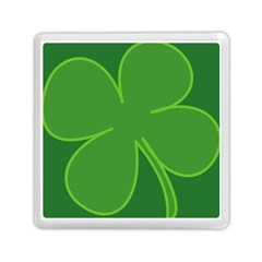 Leaf Clover Green Memory Card Reader (square)  by Alisyart