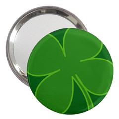 Leaf Clover Green 3  Handbag Mirrors