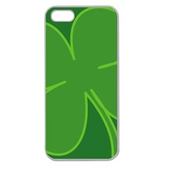 Leaf Clover Green Apple Seamless Iphone 5 Case (clear) by Alisyart