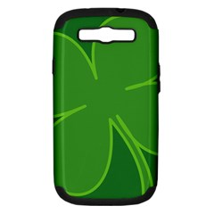 Leaf Clover Green Samsung Galaxy S Iii Hardshell Case (pc+silicone) by Alisyart