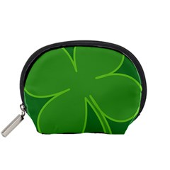 Leaf Clover Green Accessory Pouches (small)