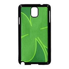 Leaf Clover Green Samsung Galaxy Note 3 Neo Hardshell Case (black)