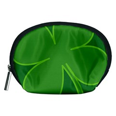 Leaf Clover Green Accessory Pouches (medium)  by Alisyart