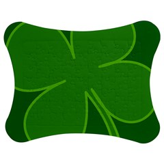 Leaf Clover Green Jigsaw Puzzle Photo Stand (bow)