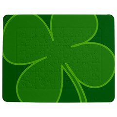 Leaf Clover Green Jigsaw Puzzle Photo Stand (rectangular) by Alisyart