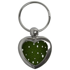 Graphics Green Leaves Star White Floral Sunflower Key Chains (heart)