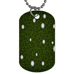 Graphics Green Leaves Star White Floral Sunflower Dog Tag (two Sides)