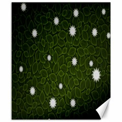 Graphics Green Leaves Star White Floral Sunflower Canvas 8  X 10  by Alisyart