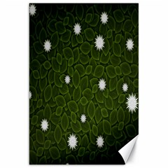 Graphics Green Leaves Star White Floral Sunflower Canvas 20  X 30   by Alisyart