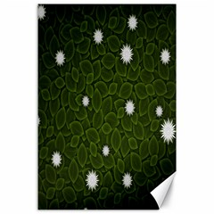 Graphics Green Leaves Star White Floral Sunflower Canvas 24  X 36  by Alisyart