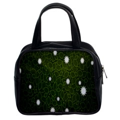 Graphics Green Leaves Star White Floral Sunflower Classic Handbags (2 Sides) by Alisyart