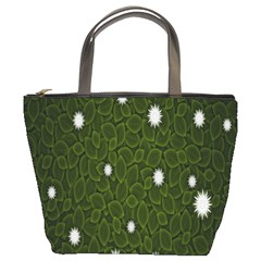 Graphics Green Leaves Star White Floral Sunflower Bucket Bags