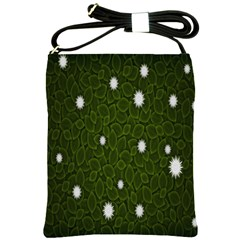 Graphics Green Leaves Star White Floral Sunflower Shoulder Sling Bags