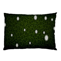 Graphics Green Leaves Star White Floral Sunflower Pillow Case (two Sides) by Alisyart