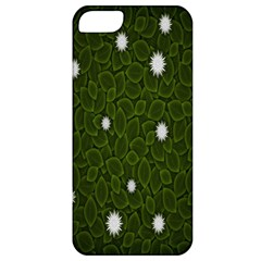 Graphics Green Leaves Star White Floral Sunflower Apple Iphone 5 Classic Hardshell Case by Alisyart
