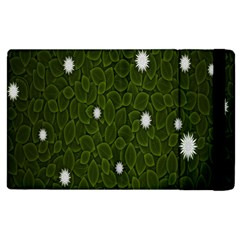 Graphics Green Leaves Star White Floral Sunflower Apple Ipad 2 Flip Case by Alisyart