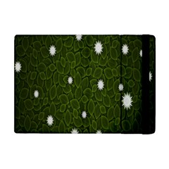 Graphics Green Leaves Star White Floral Sunflower Apple Ipad Mini Flip Case by Alisyart
