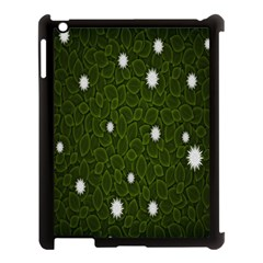 Graphics Green Leaves Star White Floral Sunflower Apple Ipad 3/4 Case (black)