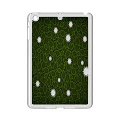 Graphics Green Leaves Star White Floral Sunflower Ipad Mini 2 Enamel Coated Cases