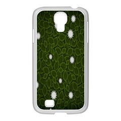 Graphics Green Leaves Star White Floral Sunflower Samsung Galaxy S4 I9500/ I9505 Case (white) by Alisyart