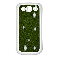 Graphics Green Leaves Star White Floral Sunflower Samsung Galaxy S3 Back Case (white)