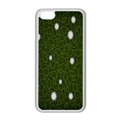 Graphics Green Leaves Star White Floral Sunflower Apple Iphone 5c Seamless Case (white) by Alisyart