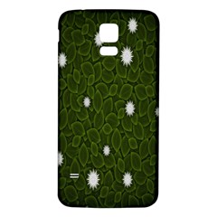 Graphics Green Leaves Star White Floral Sunflower Samsung Galaxy S5 Back Case (white) by Alisyart