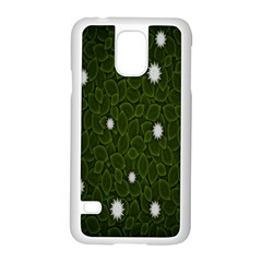Graphics Green Leaves Star White Floral Sunflower Samsung Galaxy S5 Case (white)